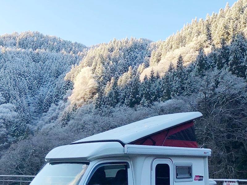秩父の雪景色、inキャンピングカーの旅!